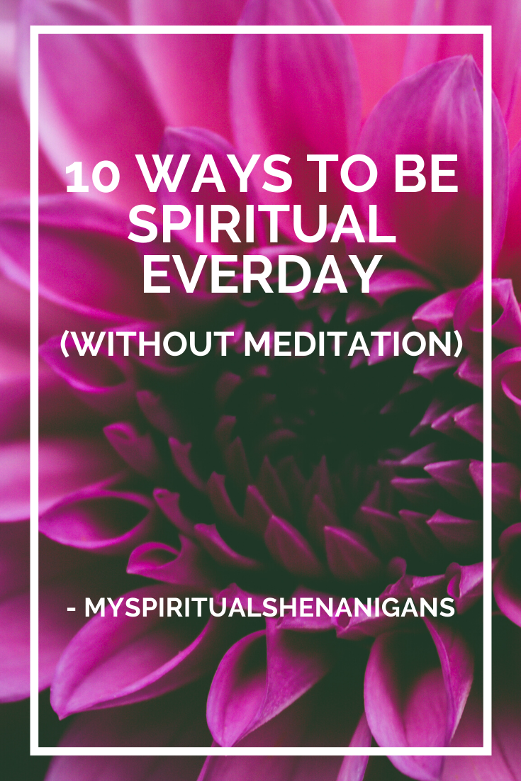 spiritual without meditation pin for pinterest